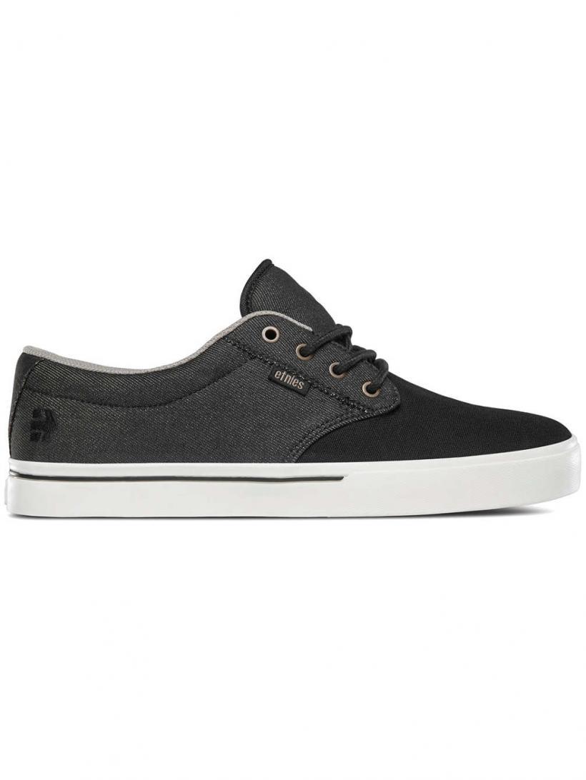 Etnies Jameson 2 Eco Black/White/Gold | Mens Skate Shoes