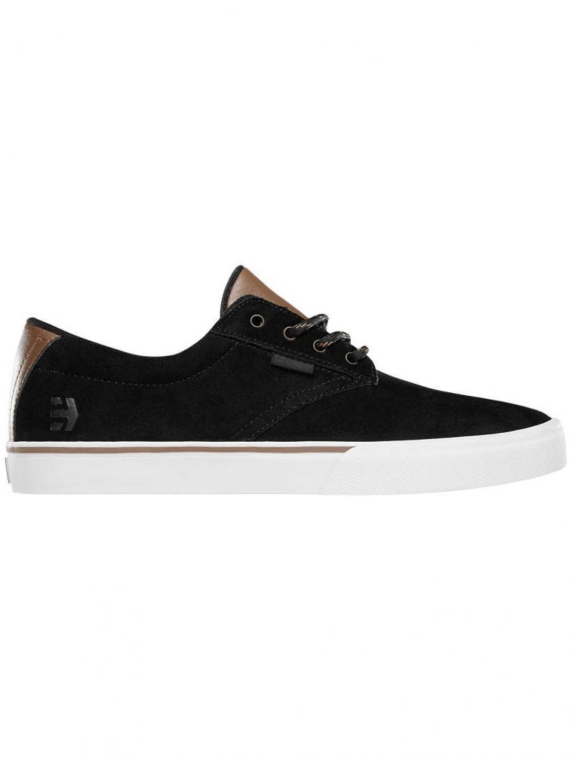 Etnies Jameson Vulc Black/Gold | Mens Skate Shoes