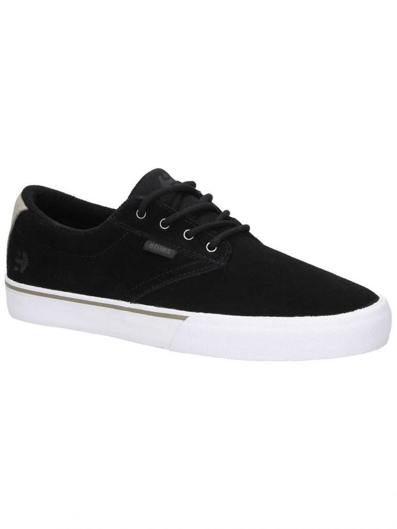 Etnies Jameson Vulc Black/White/Silver   Mens Skate Shoes
