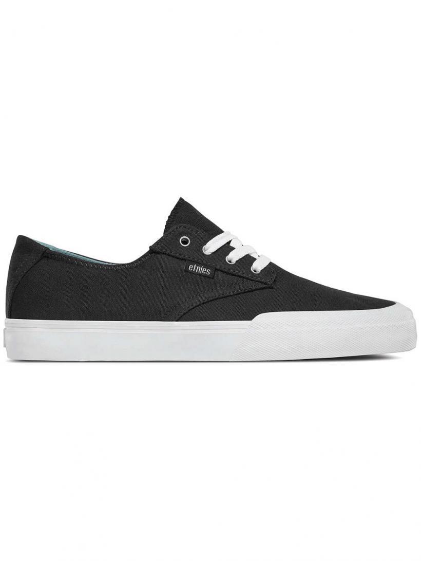 Etnies Jameson Vulc LS Black/White/Silver   Mens Skate Shoes