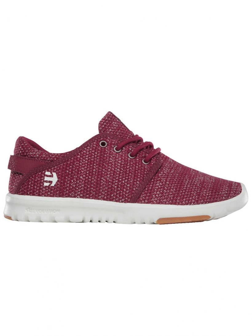 Etnies Scout Burgundy/Tan/Gum | Mens/Womens Sneakers
