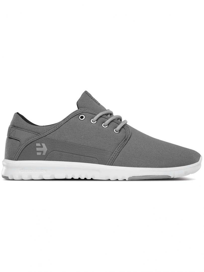 Etnies Scout Grey/Silver   Mens Sneakers