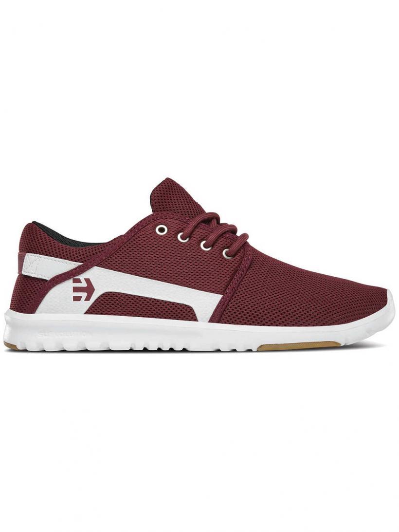 Etnies Scout Maroon/White | Mens Sneakers