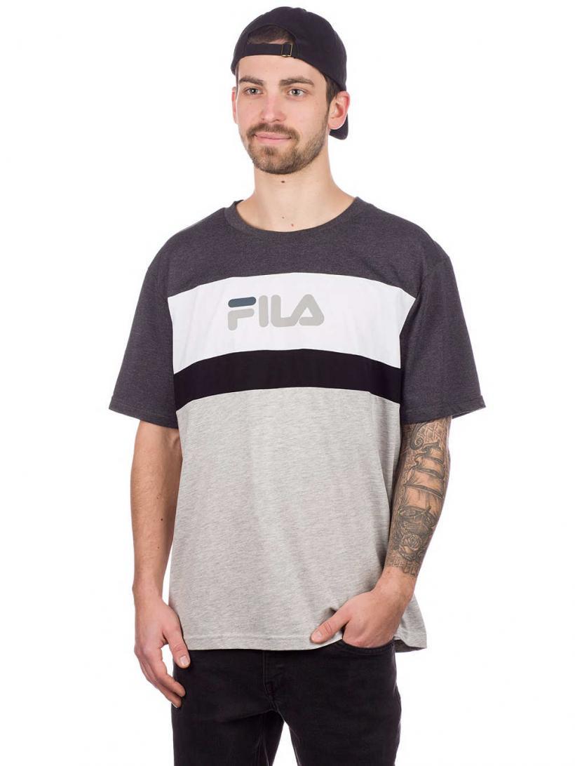 Fila Aaron T-Shirt Light Grey Mel Bros/Dark   Mens T-Shirts