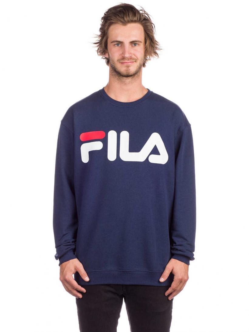 Fila Basic Sweater Black Iris | Mens Pullovers