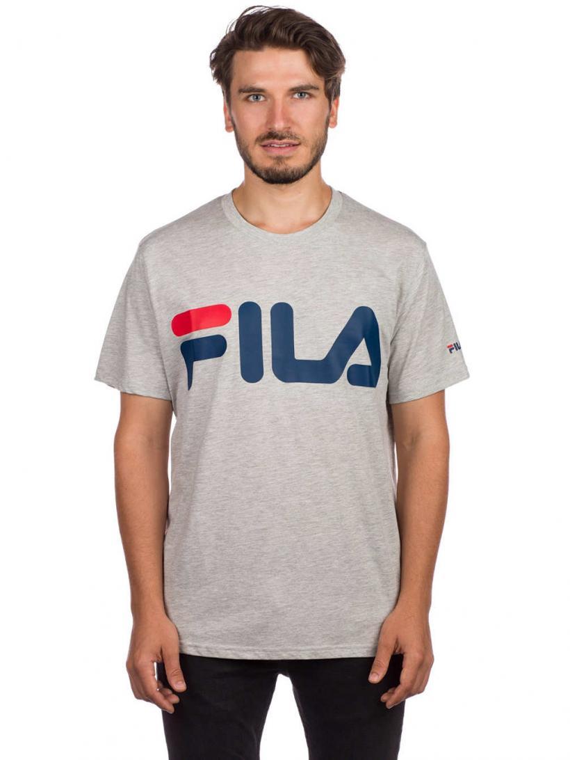 Fila Basic T-Shirt Light Grey Melange Bros   Mens T-Shirts
