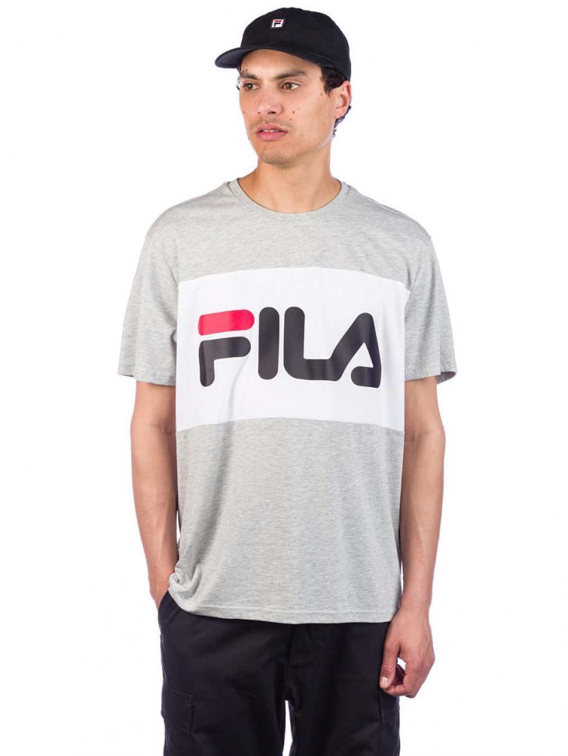 Fila Day T-Shirt Light Gry Mel Bros/Br Wht   Mens T-Shirts