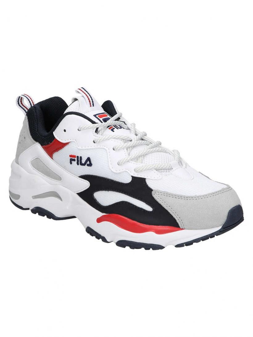 Fila Ray Tracer White/Fila Navy/Fila Red | Mens Sneakers