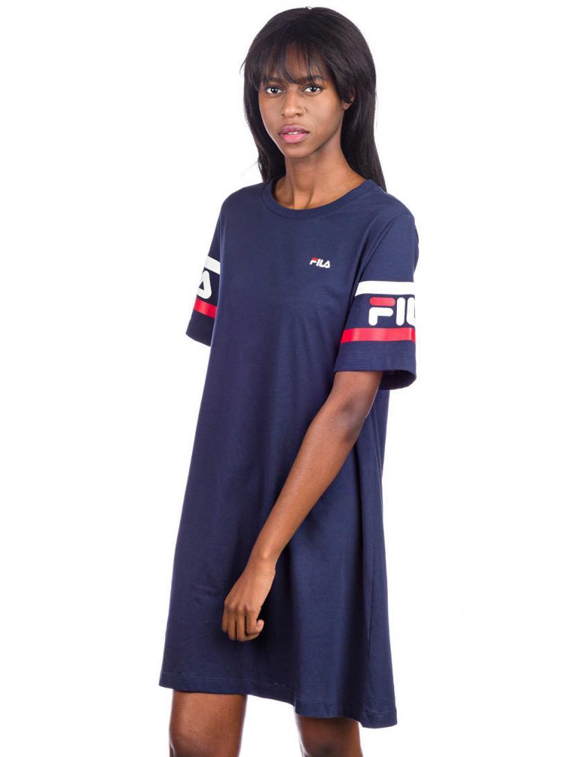 Fila Steph Tee Dress Black Iris | Womens Dresses