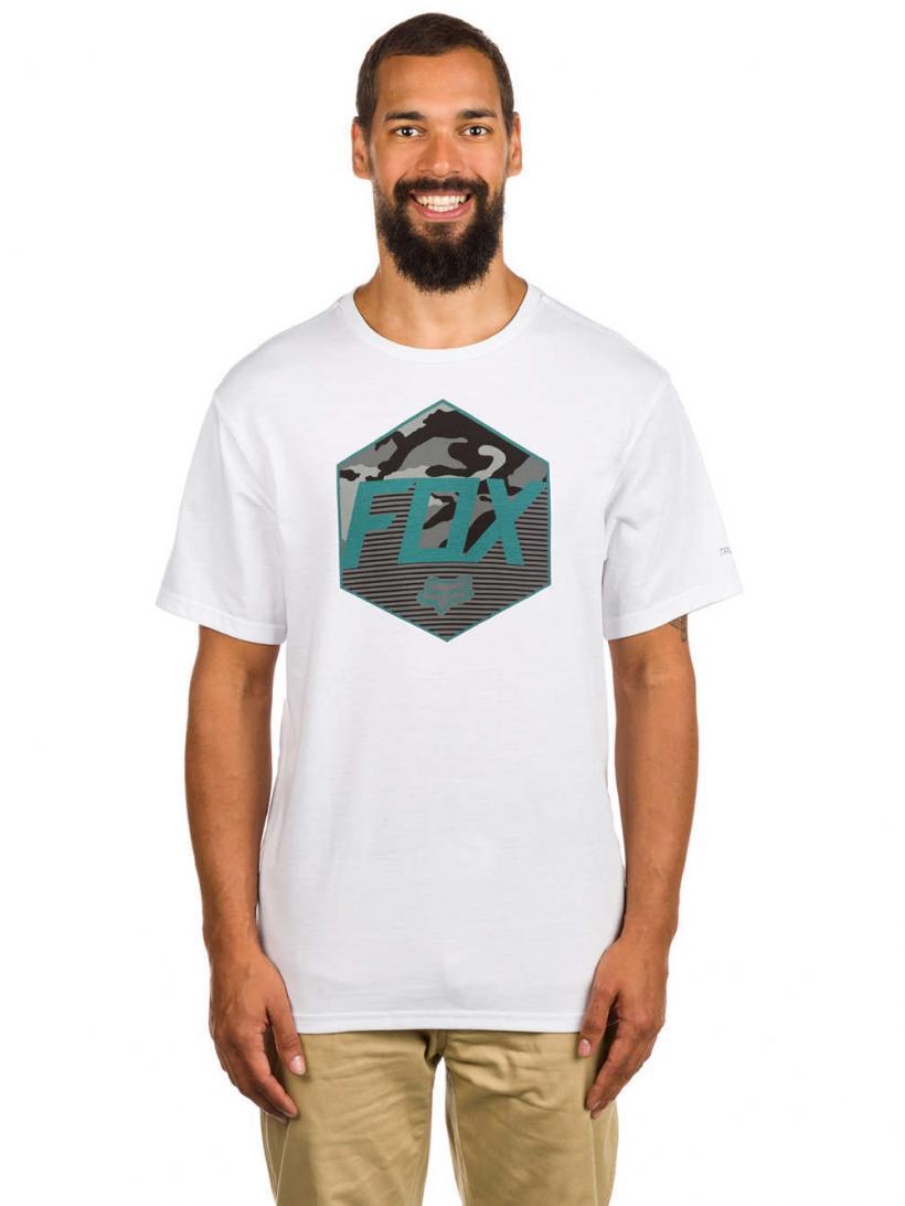 Fox Kaster Tech T-Shirt Optic White   Mens T-Shirts