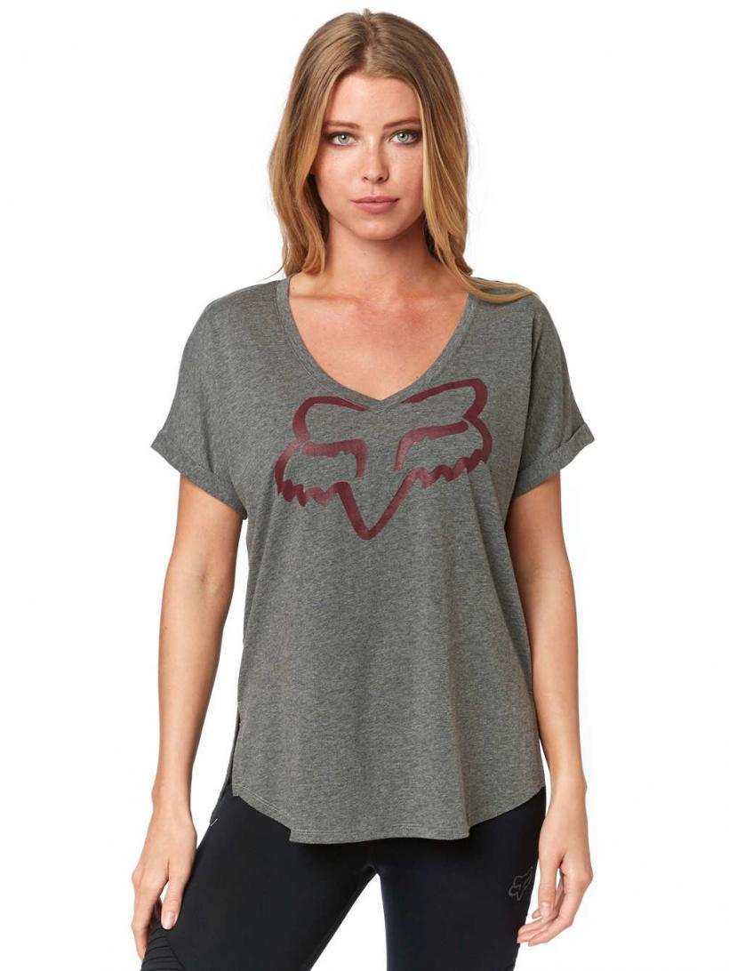 Fox Responded Vneck Raglan T-Shirt Heather Graphite | Mens/Womens T-Shirts