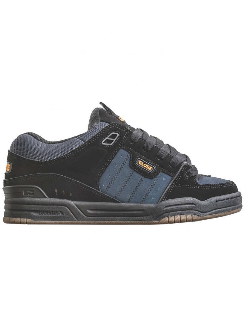 Globe Fusion Black/Ebony/Orange | Mens Sneakers