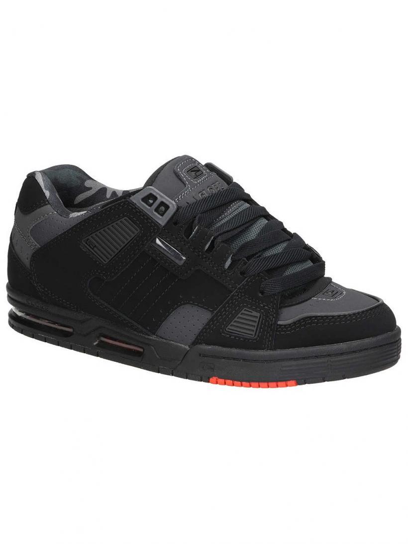 Globe Sabre Black/Night/Red | Mens Sneakers
