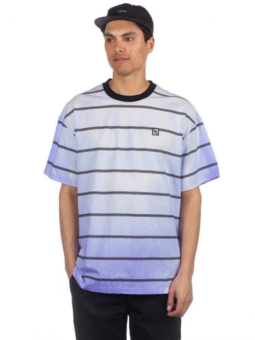 Globe Sidekicker Stripe T-Shirt Ultra Violet   Mens T-Shirts