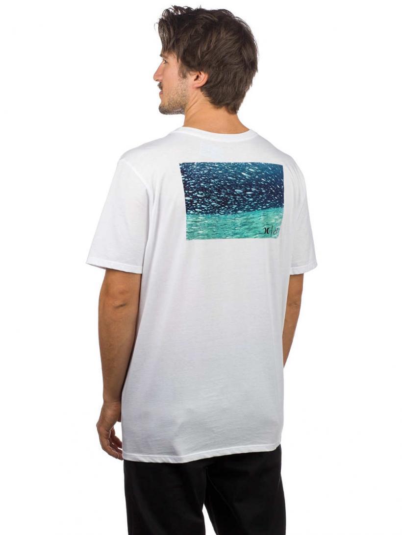Hurley Clark Little Underwater T-Shirt White | Mens T-Shirts