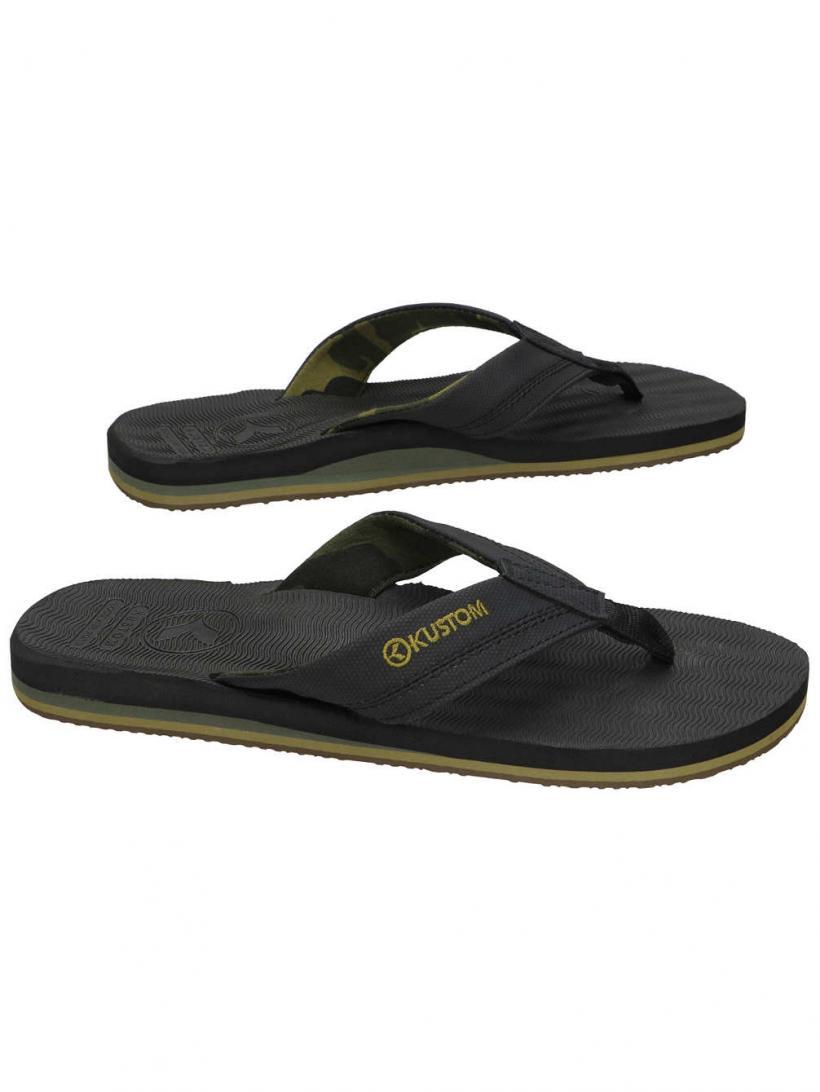 Kustom Burleigh Black Camo   Mens Sandals