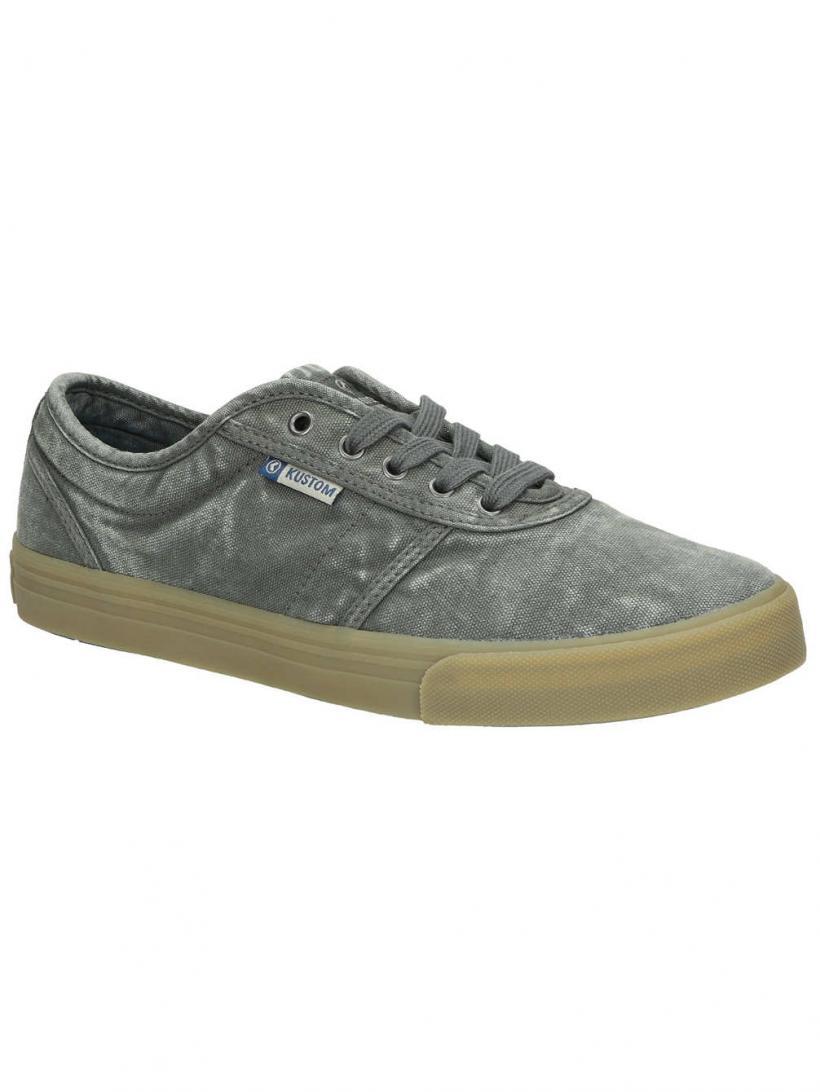 Kustom Drop Kick Pro Washed Grey   Mens Sneakers
