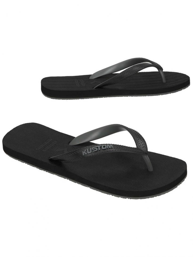Kustom Foamy Black   Mens Sandals