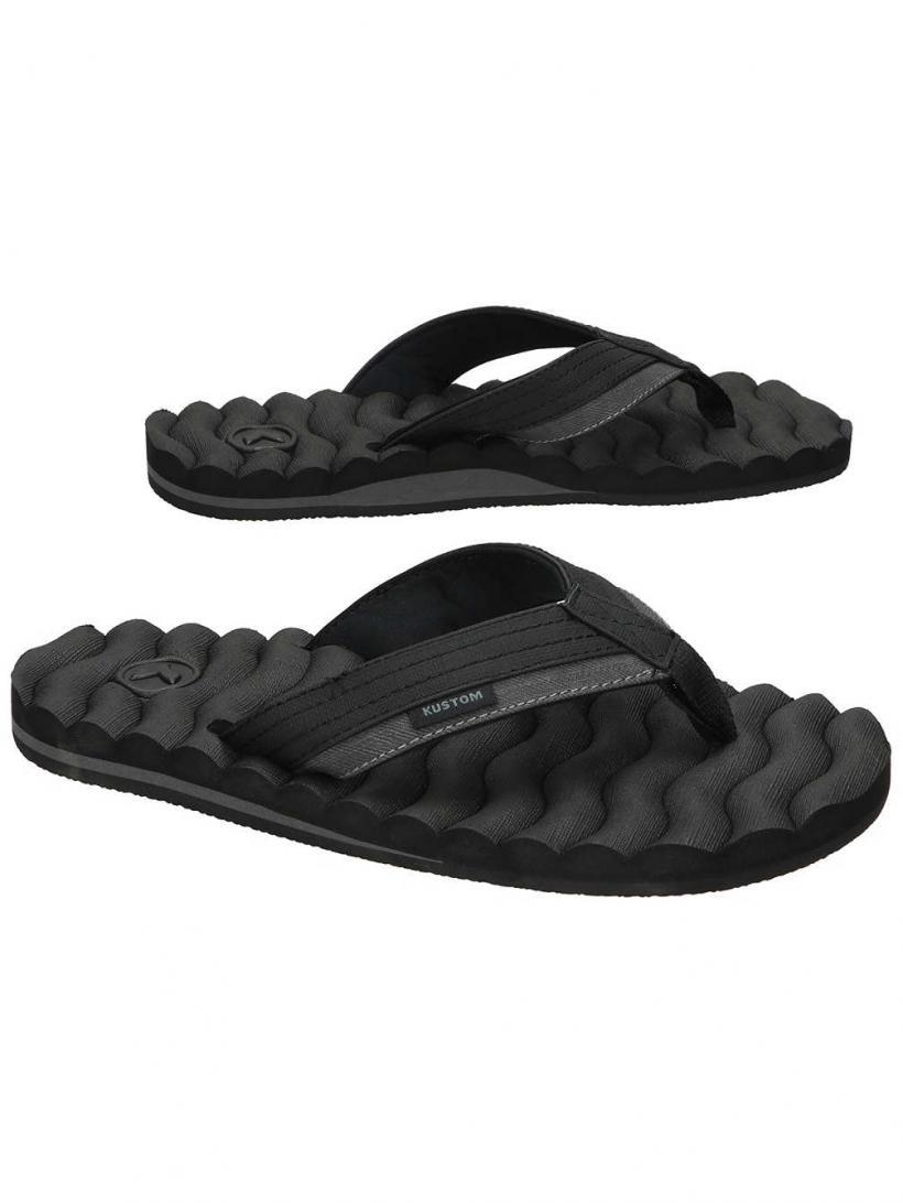 Kustom Hummer III Black Stripe   Mens Sandals