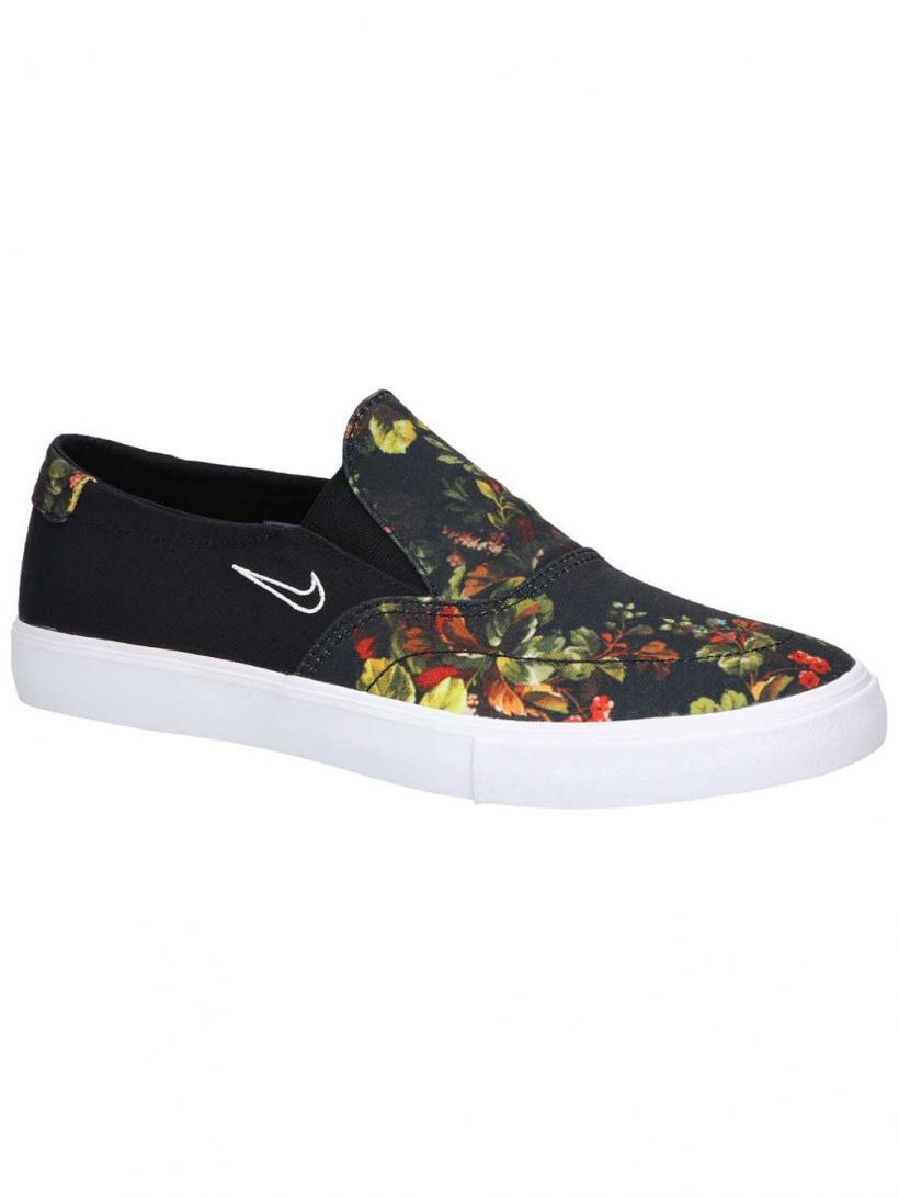 Nike SB Portmore II Solarsoft Slip-Ons Black/White/Multi Color | Mens/Womens Slip-Ons