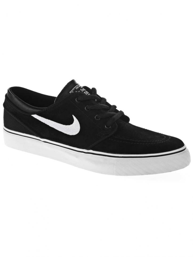 Nike Stefan Janoski Black/White/Gum Med Brown | Mens Skate Shoes