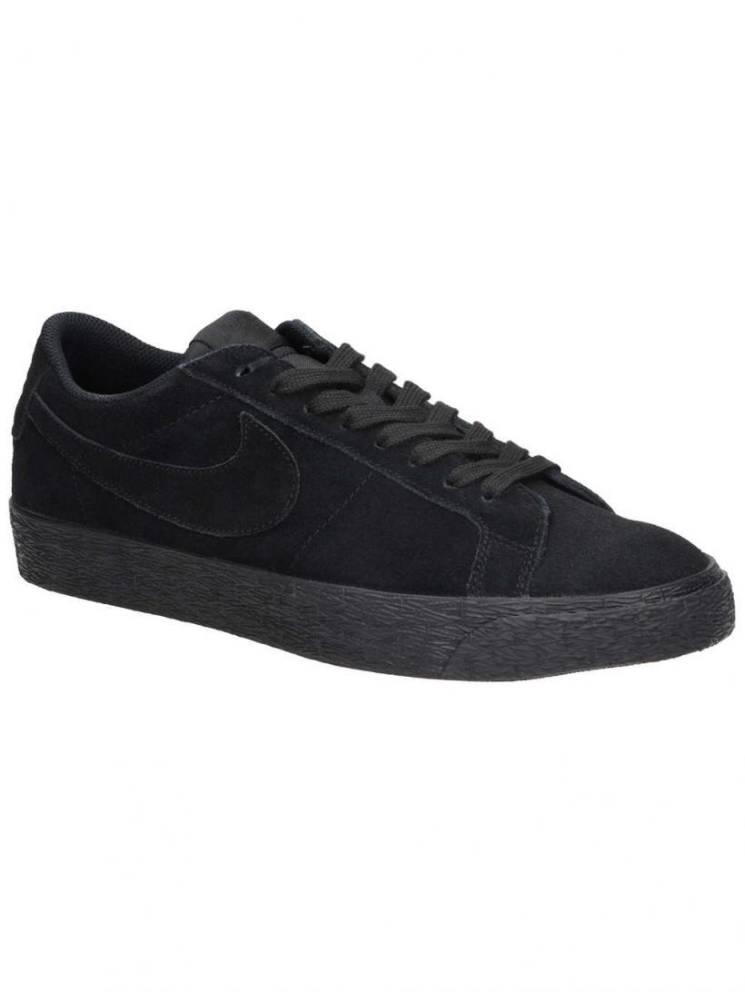 Nike Zoom Blazer Low Black/Black/Gunsmoke | Mens Skate Shoes