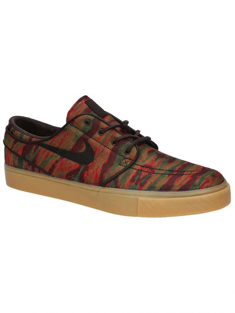 Nike Zoom Stefan Janoski Canvas Premium Skate Sho Multi/Color/Velvet Brown/ | Mens Skate Shoes