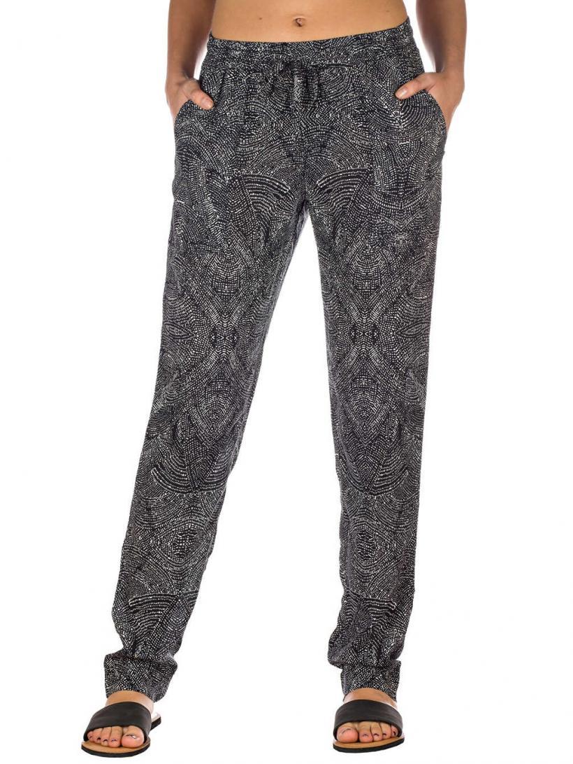 O'Neill Easy Breezy Pants Black Aop W/ White | Mens/Womens Chino Pants