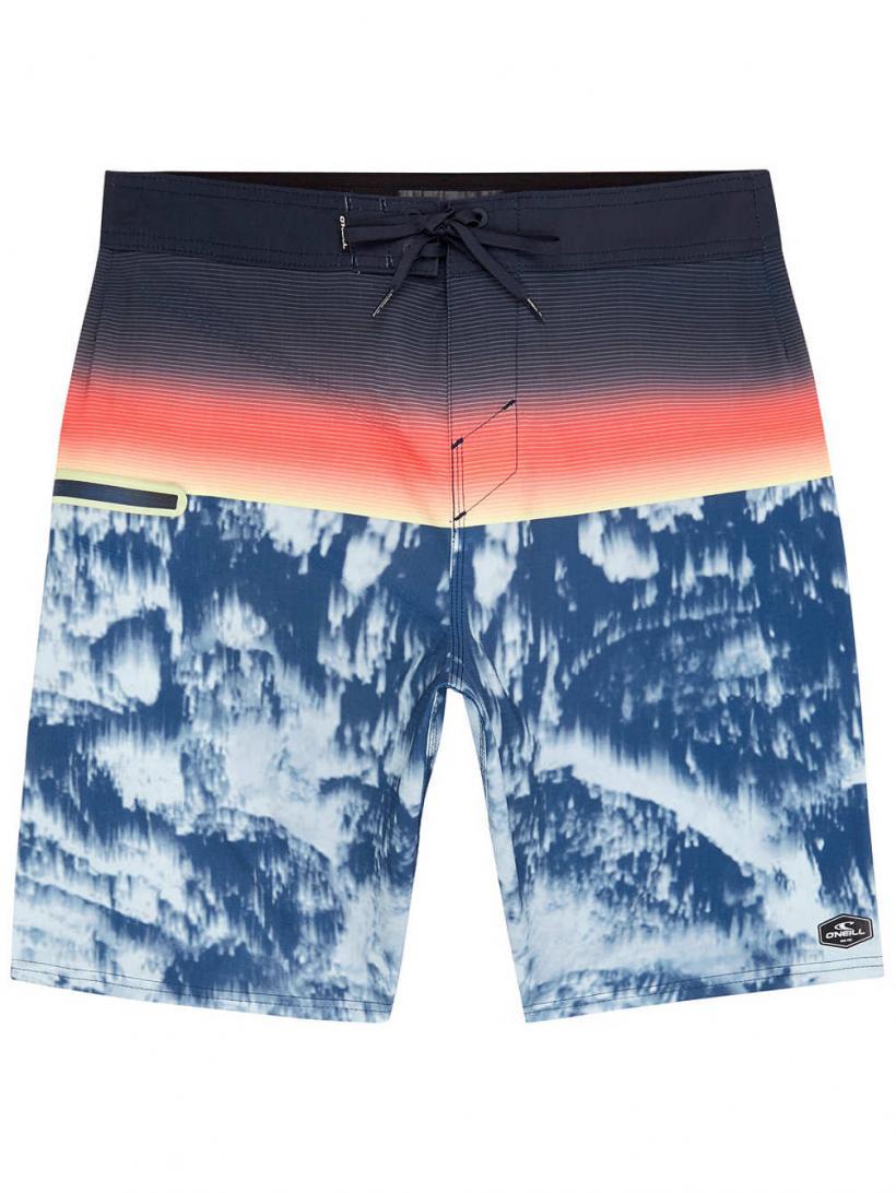 O'Neill Hyperfreak Boardshorts Blue Aop | Mens Swimwear