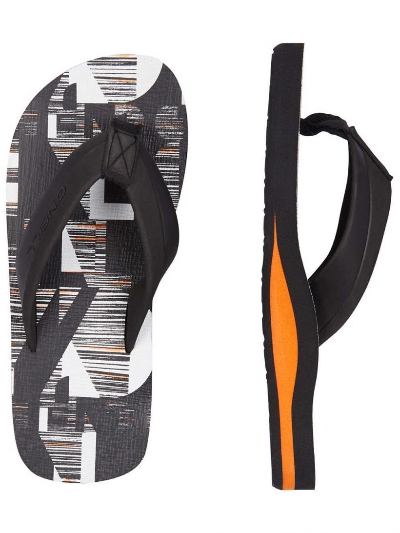 O'Neill Imprint Pattern Black Aop W/ White | Mens Sandals