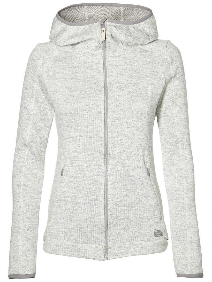 O'Neill Piste Hoodie Fleece Jacket White Melee | Womens Jackets