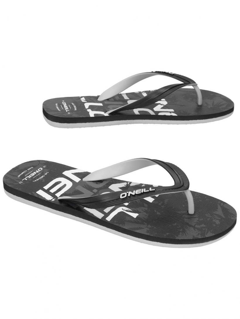 O'Neill Profile Pattern Black Aop W/ Black   Mens Sandals