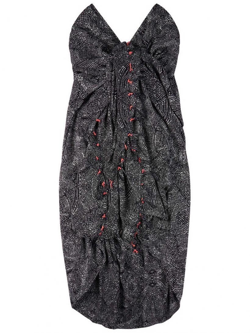 O'Neill Sarrong Black Aop W/ White | Womens Dresses