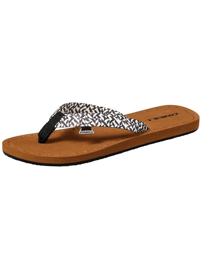 O'Neill Woven Strap Black Aop W/ White 1 | Mens/Womens Sandals
