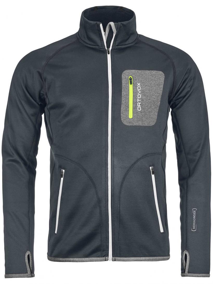 Ortovox Fleece Jacket Black Steel | Mens Jackets