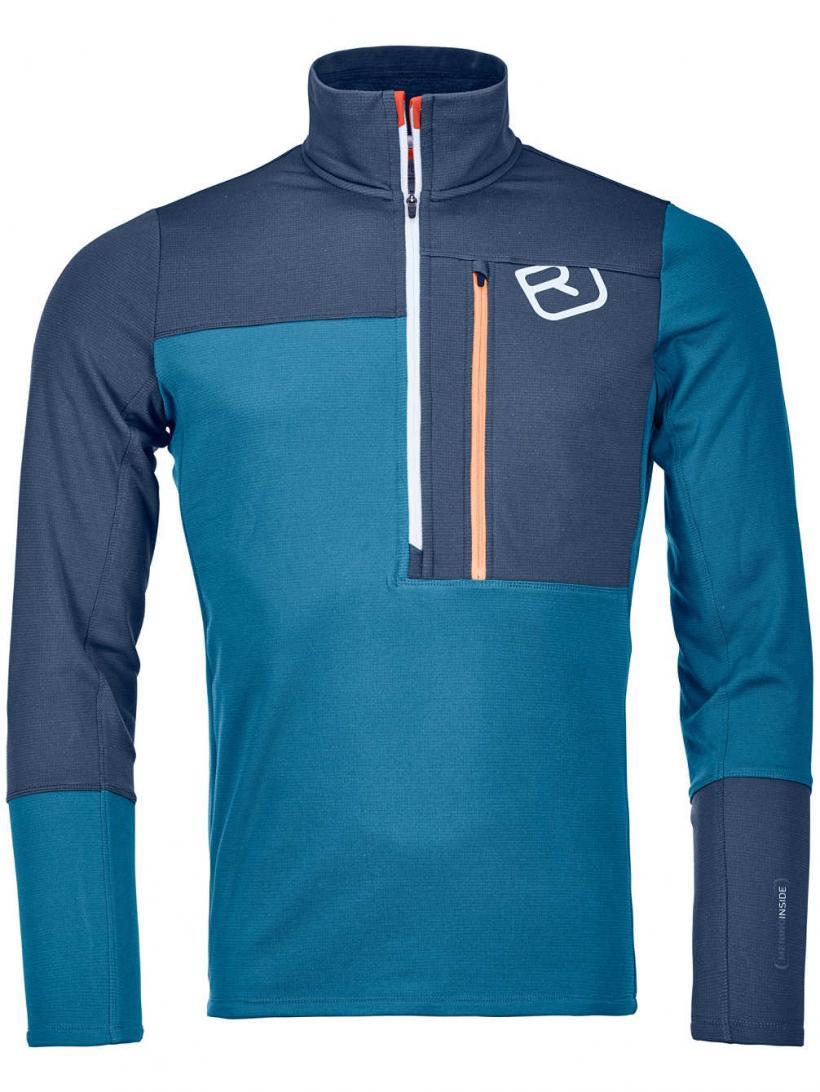Ortovox Light Zip Neck Fleece Pullover Blue Sea | Mens Jackets