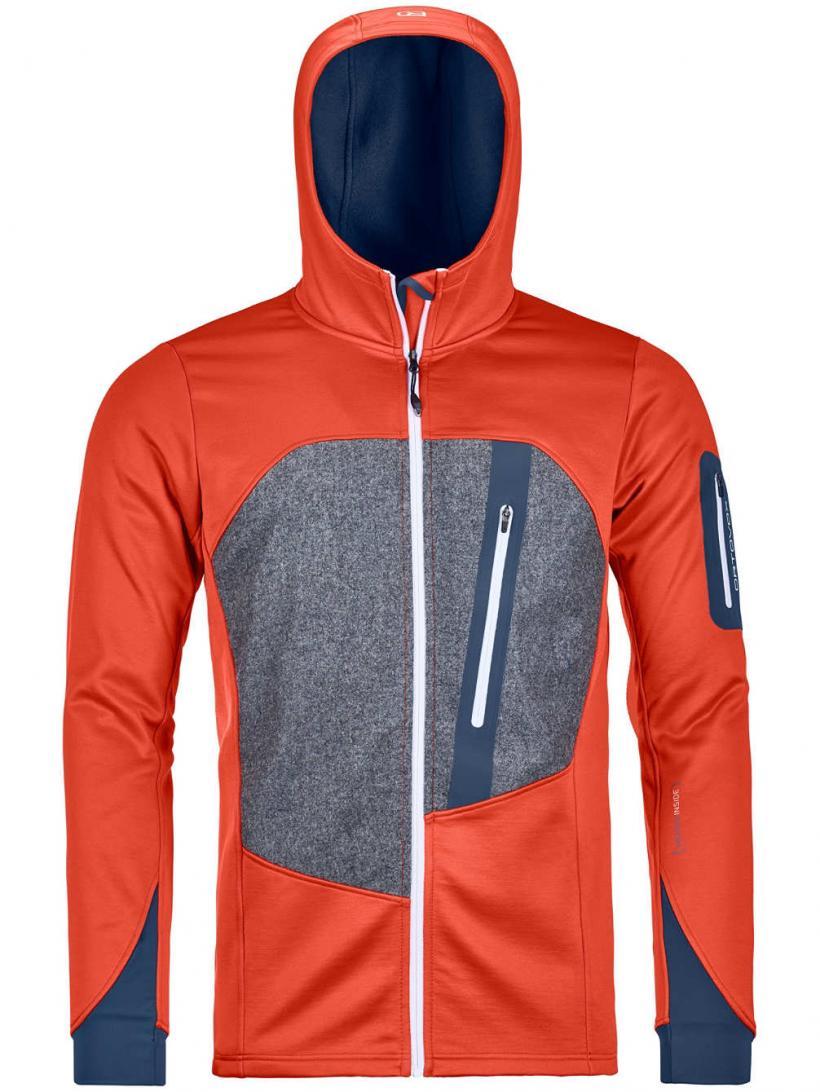 Ortovox Loden Hooded Fleece Jacket Crazy Orange | Mens Jackets