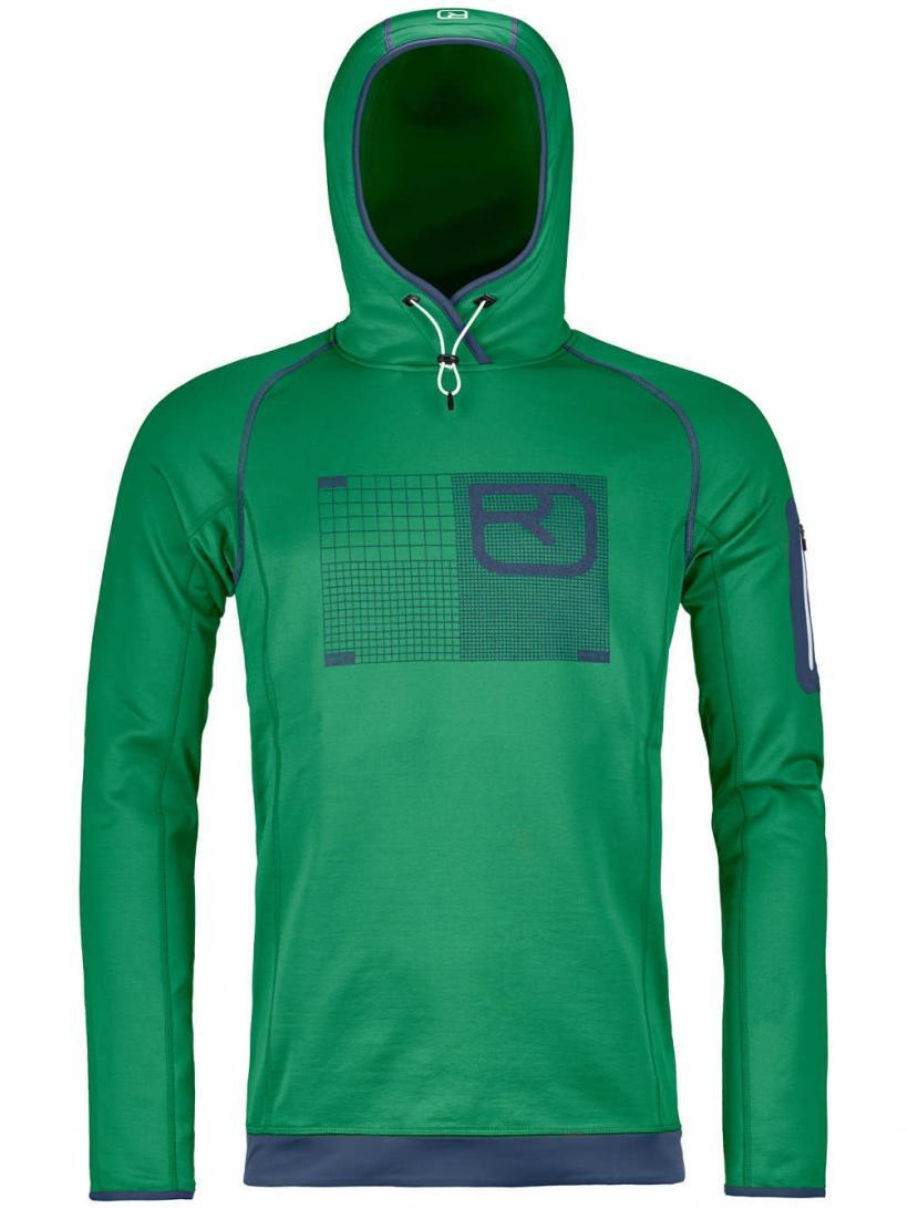 Ortovox Logo Merino Fleece Pullover Irish Green | Mens Jackets