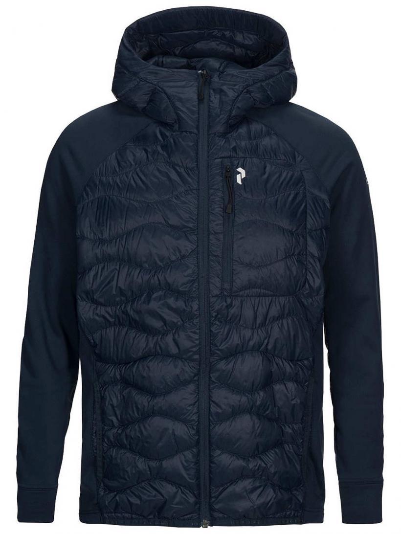 Peak Performance Helium Hybrid Hooded Outdoor Jacket Blue Shadow | Mens/Womens Jackets
