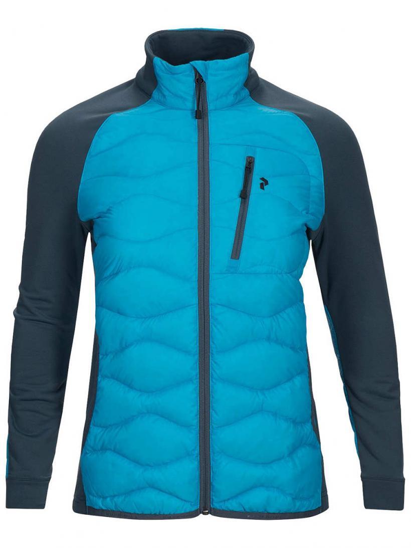 Peak Performance Helium Hybrid Outdoor Jacket Lt Mosaic Blue | Womens Jackets