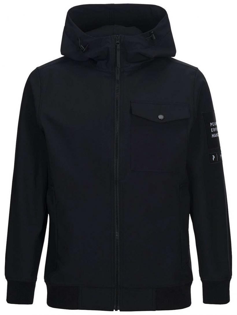 Peak Performance Softshell Jacket Black | Mens Jackets