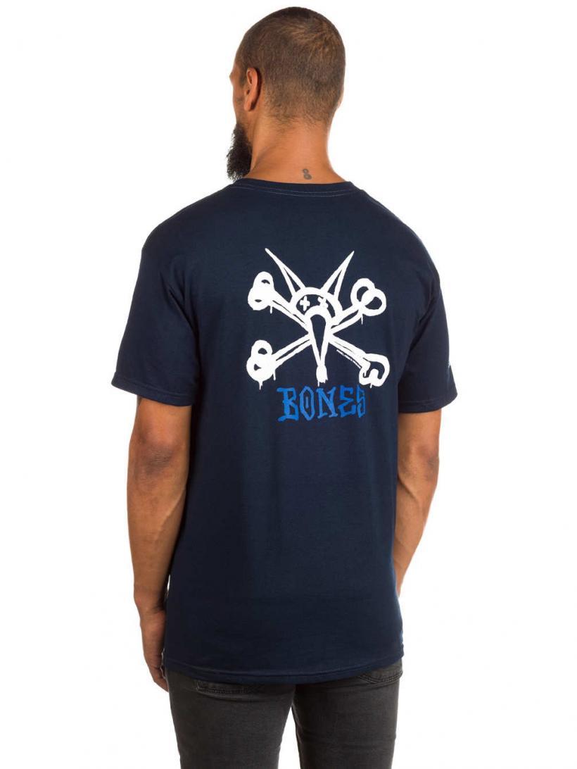 Powell Peralta Rat Bones T-Shirt Navy   Mens T-Shirts