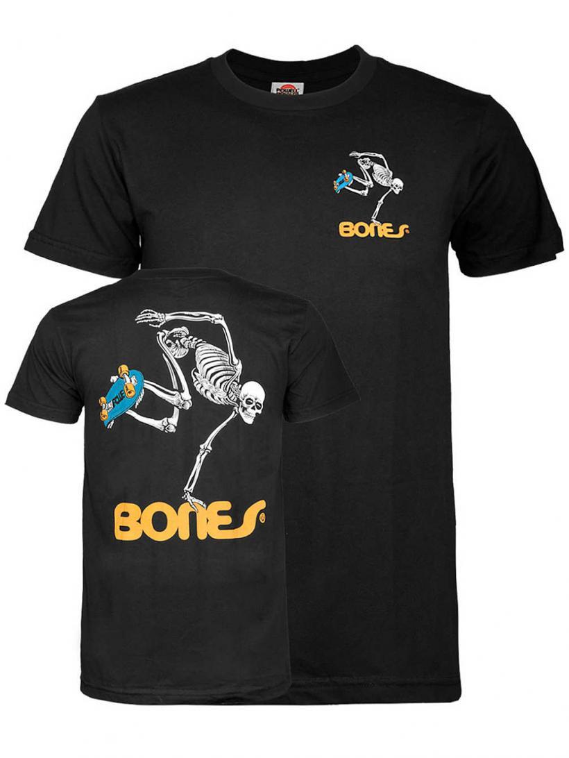 Powell Peralta Skateboard Skeleton T-Shirt Black   Mens T-Shirts