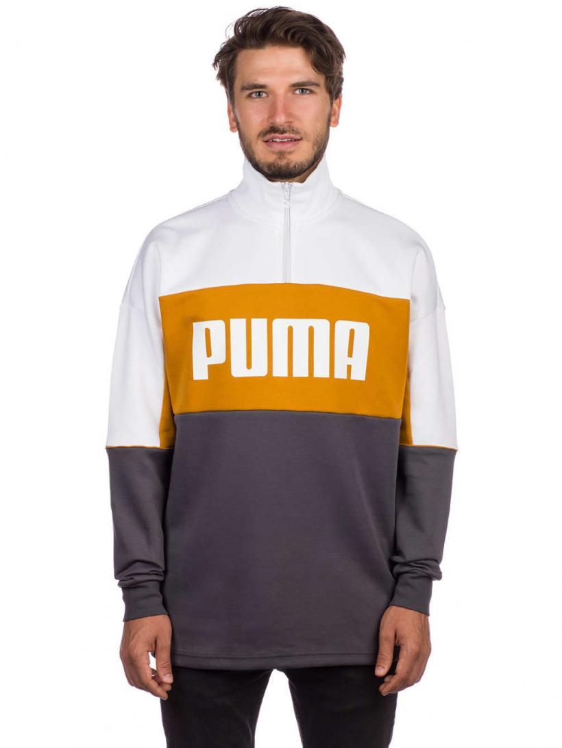 Puma Retro Crew Turtle Rib Neck Sweater Iron Gate | Mens Pullovers