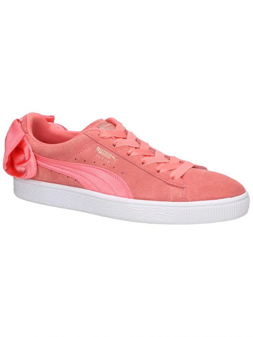 Puma Suede Bow Peach/Puma Peach | Mens/Womens Sneakers