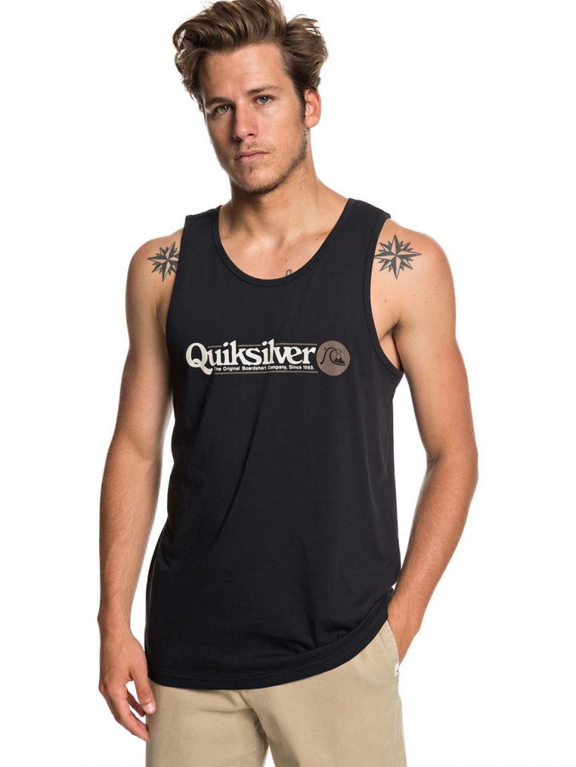 Quiksilver Art Tickle Tank Top Black | Mens Tank Tops