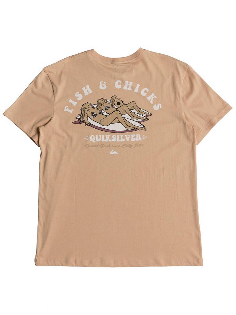 Quiksilver Bambo T-Shirt Peach Parfait | Mens T-Shirts