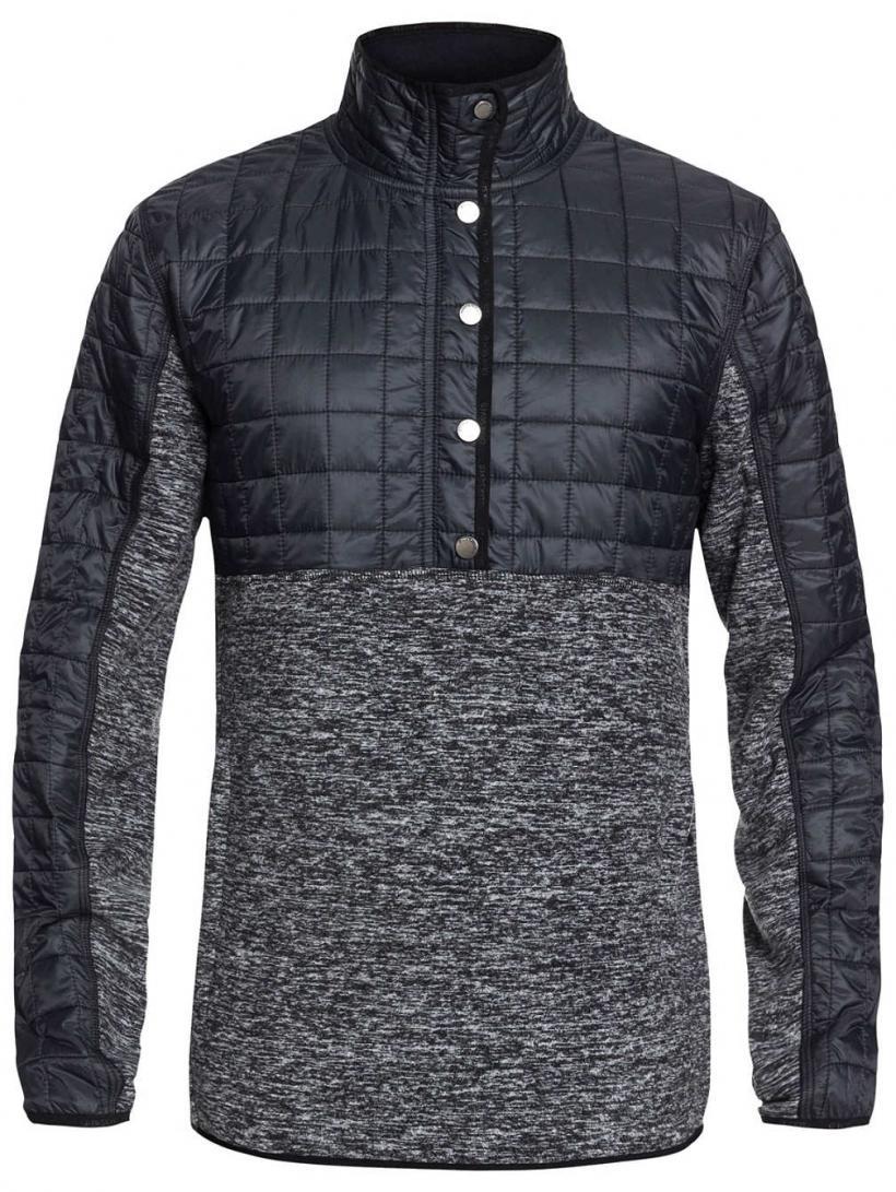 Quiksilver Butter Hybr Fleece Pullover Black Heather | Mens Jackets