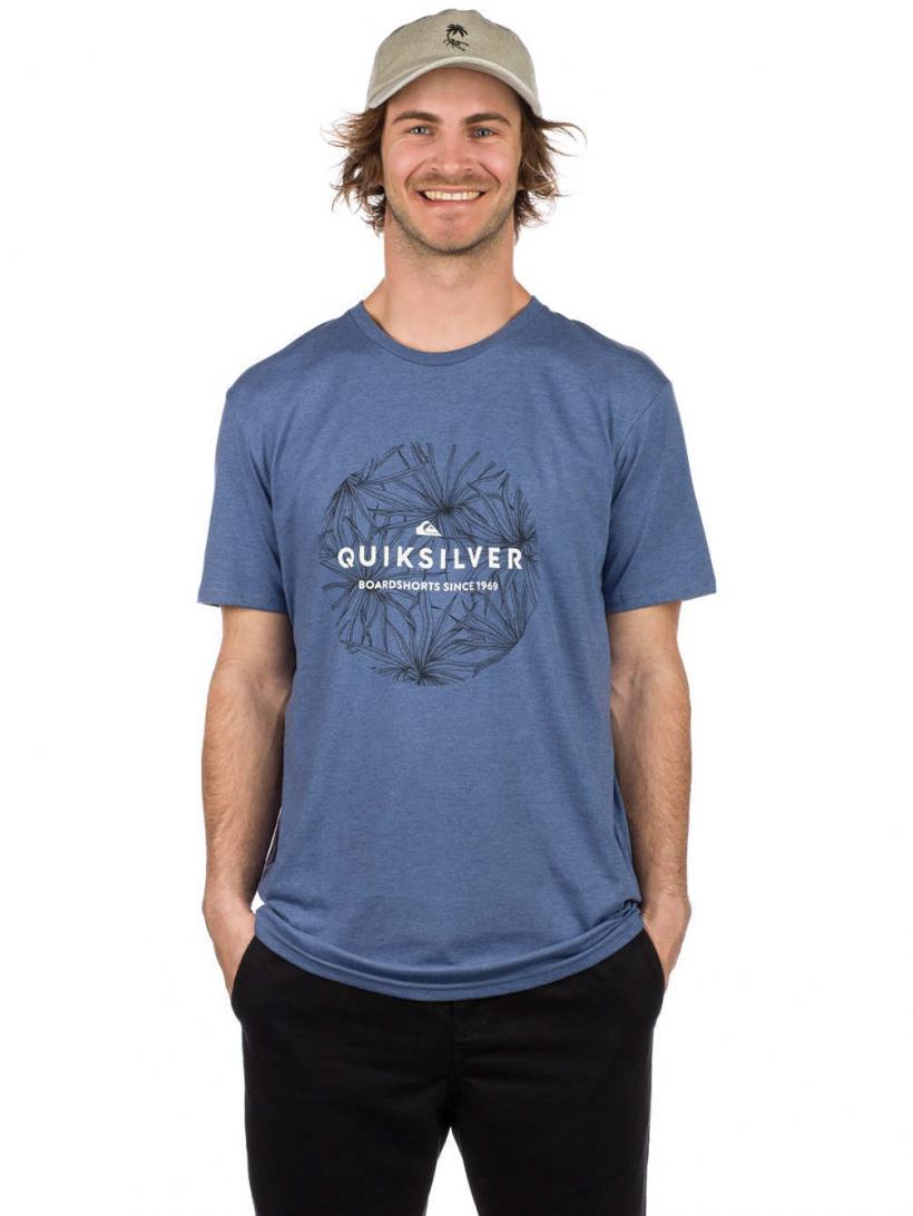 Quiksilver ClaT-Shirtic Bob T-Shirt Bijou Blue Heather | Mens T-Shirts
