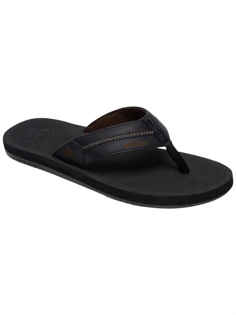 Quiksilver Coastal Oasis Deluxe Black/Black/Grey | Mens Sandals